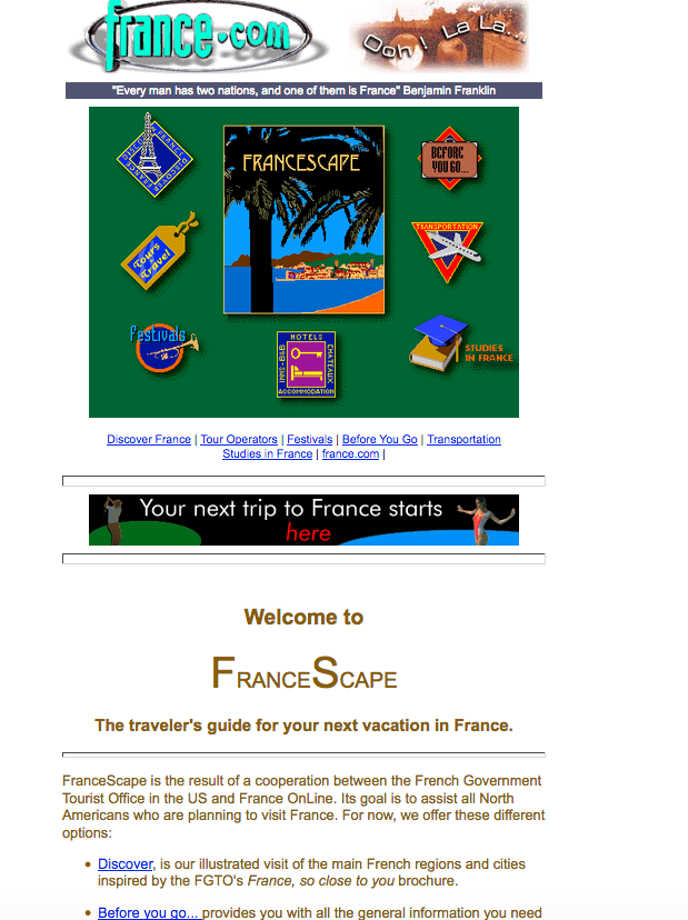 France.com builds first website devoted to travel to France