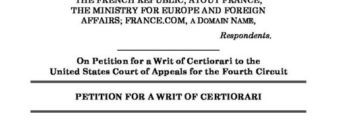 France.com, Inc. petitions the US Supreme Court for a writ of Certoriari